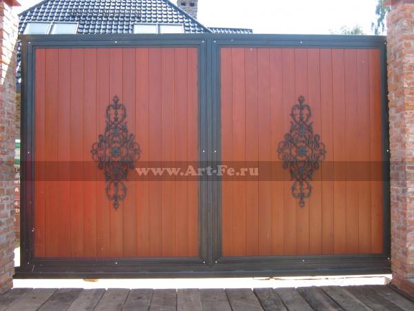 Декоративные панно на откатных воротах