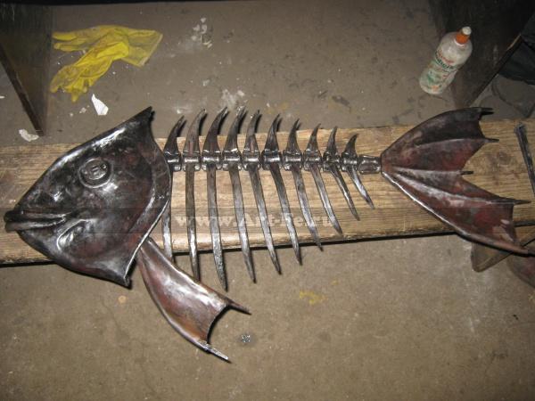 Кованая рыба. Настенный сувенир.