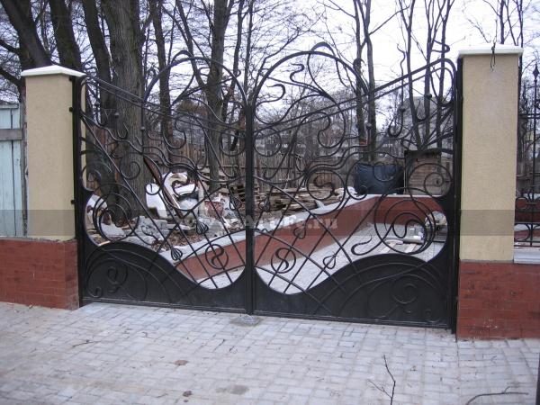 Кованые ворота. Эскиз - архитектурная энциклопедия.