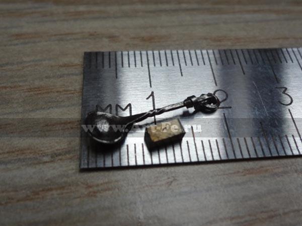 Кованая ложечка из кубика металла 2,5х2,5х5,0мм