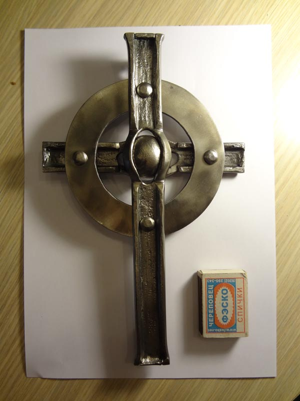 Кованый крест без сварки, подарок отцу на память